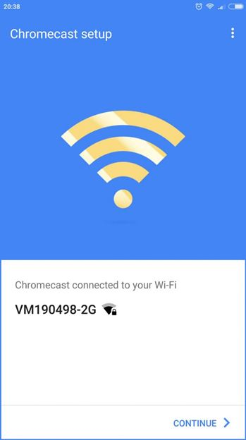 Настройка и подключение Chromecast к сети Wi-Fi