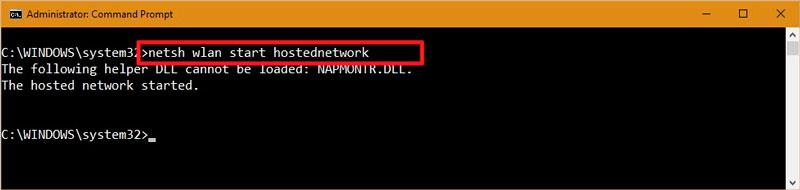 netsh wlan stop hostednetwork