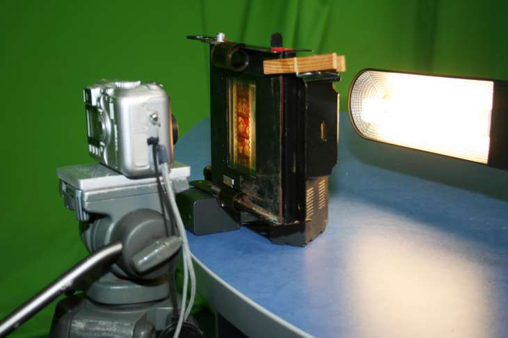 Оцифровка фотоаппаратом без насадки