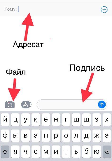Отправка ММС c iPhone 7