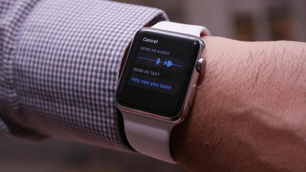 Отправка SMS-сообщений с помощью Apple Watch