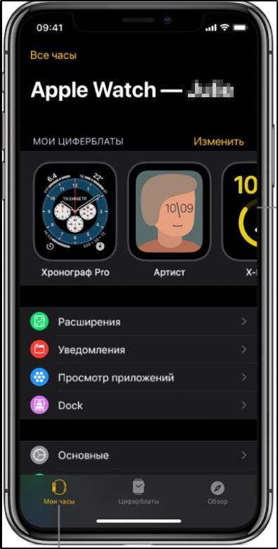 Предустановленное приложение Watch в iPhone