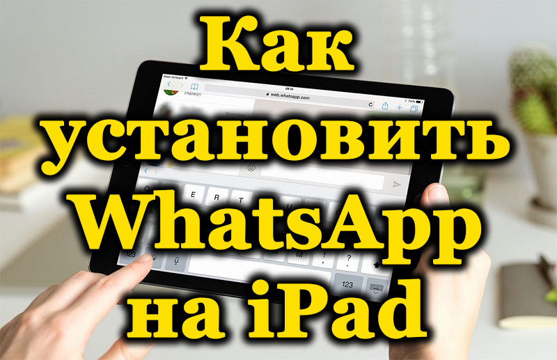 Приложение WhatsApp на iPad