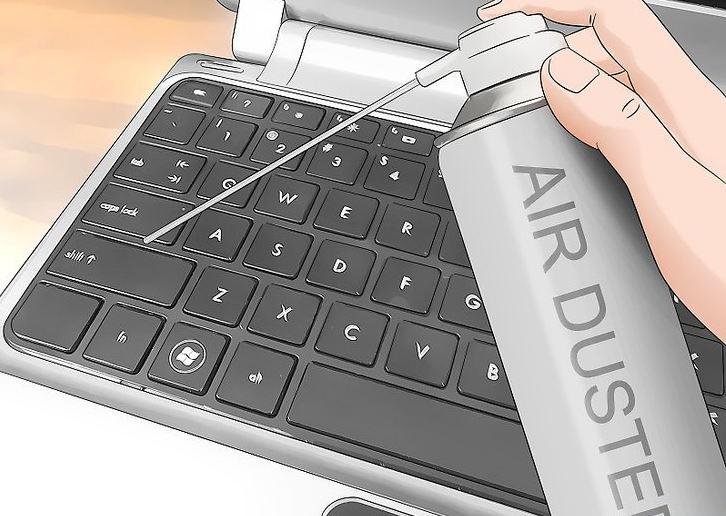 Продувание клавиатуры ноутбука