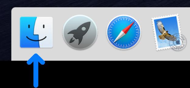 Программа Finder на панели быстрого доступа Mac OS