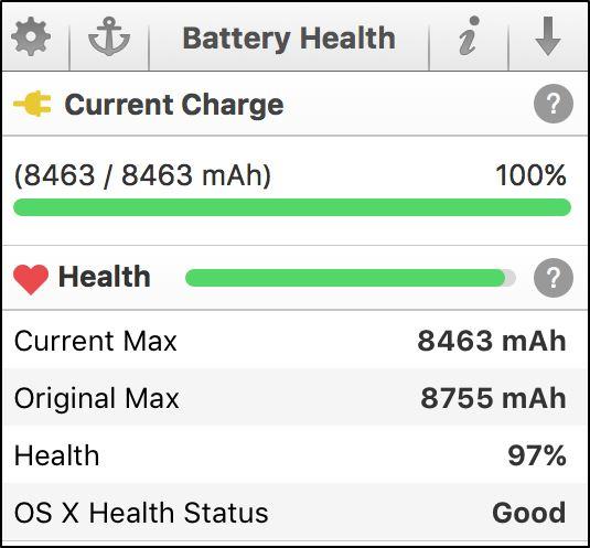 Проверка состояния батареи при помощи системной утилиты