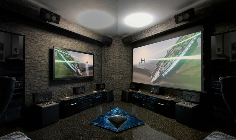Размеры телевизора и проектора