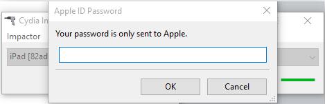 Сгенерированный на сайте Apple пароль