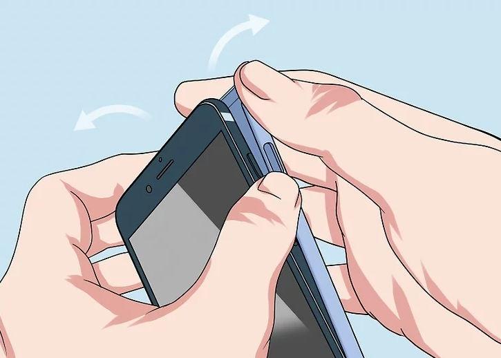 Снятие задней крышки телефона
