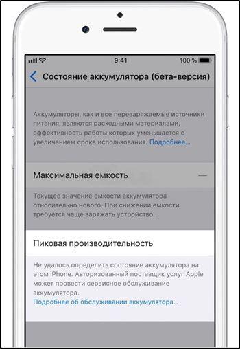 Сообщение о пиковой производительности iPhone