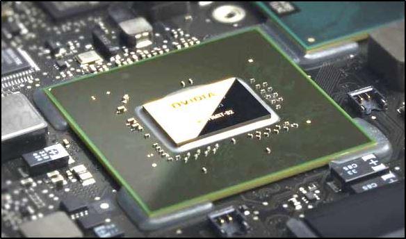 Так выглядит чип на видеокарте