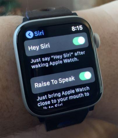 Умная система Siri, встроенная в Apple Watch
