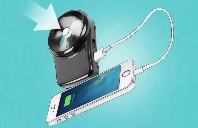 Зарядка iPhone при помощи ветрогенератора