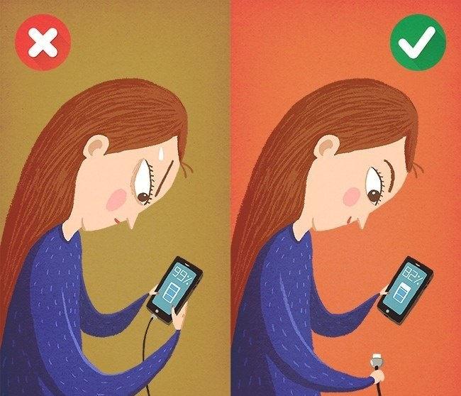 Зарядка телефона до 100%