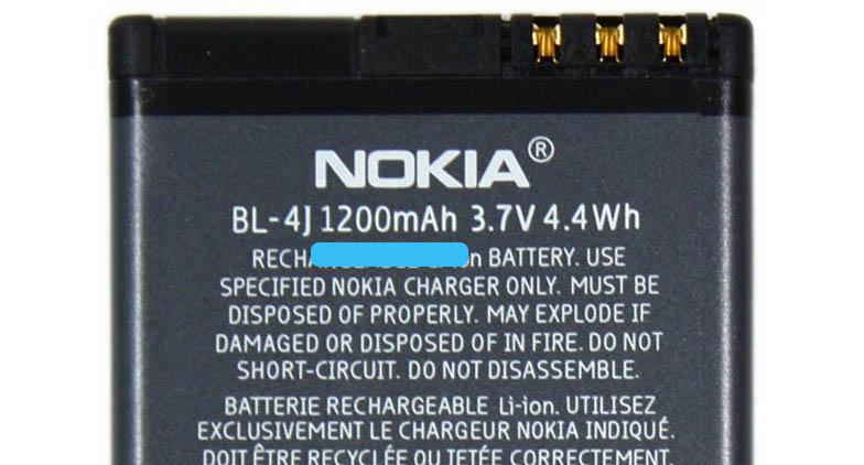 Ёмкость аккумулятора Nokia