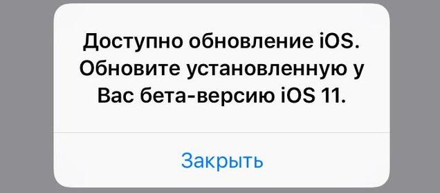Новое обновление iOS