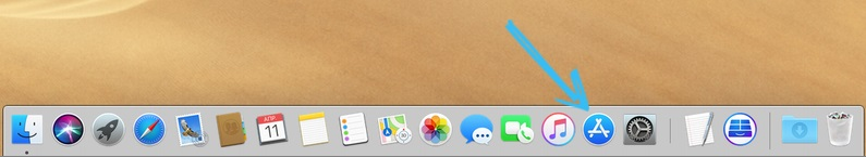 Переход в AppStore на ноутбуке