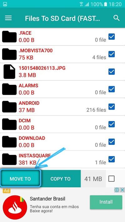 Перенос файлов в Files To SD Card