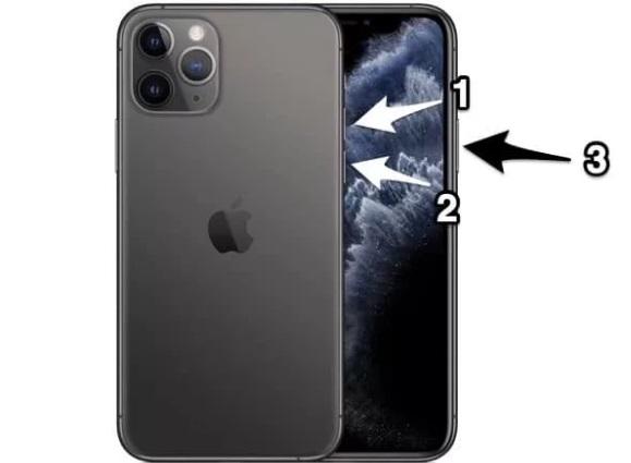 Принудительная перезагрузка iPhone 11
