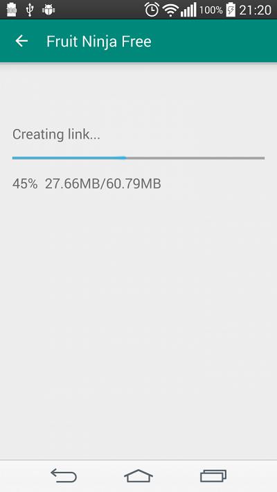 Процесс переноса на карту памяти в Link2SD