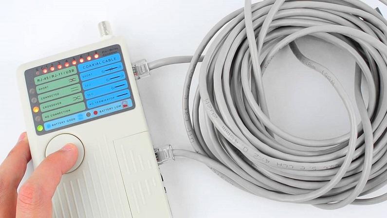 Проверка кабеля тестером
