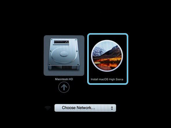 Пункт Install macOS