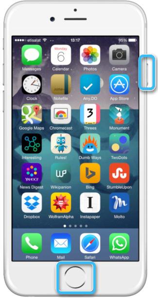 Ввод iPhone 6S в режим DFU