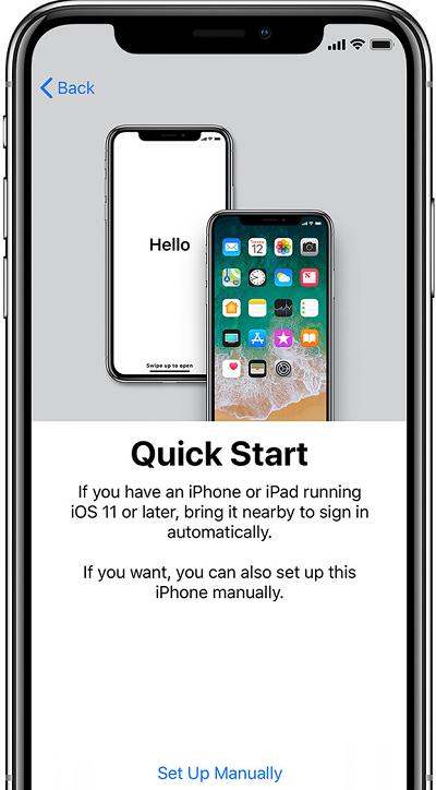 Быстрая настройка iPhone