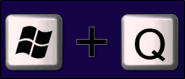 Комбинация клавиш Win + Q