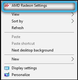 Параметры AMD Radeon