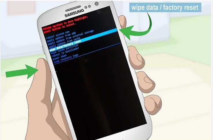 Пункт «Wipe data/factory reset»