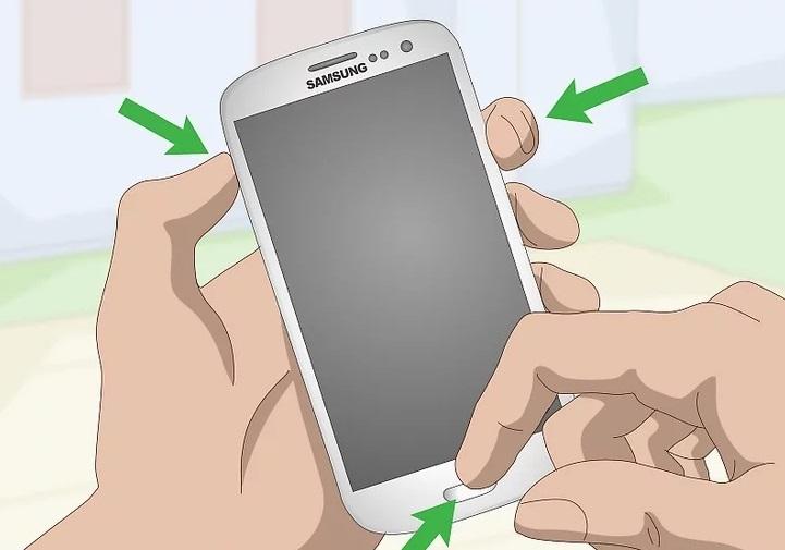 Вызов меню восстановления системы на Samsung