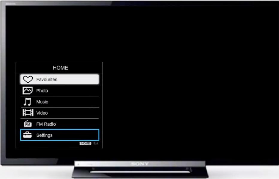 Настройки на телевизоре Sony