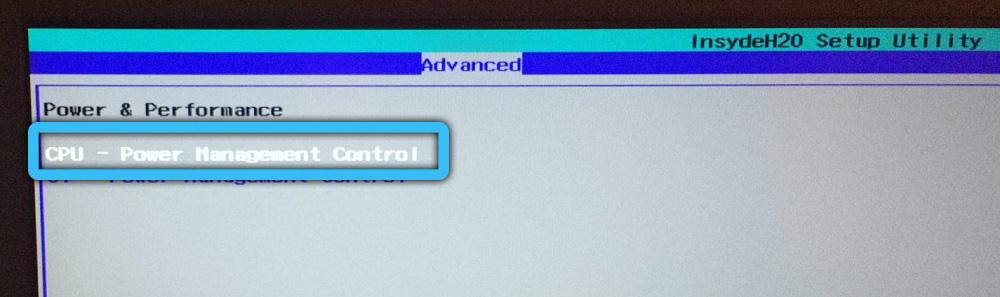 CPU Power Management Control