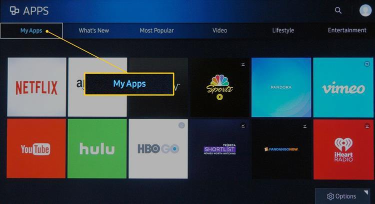 Мои приложения на телевизоре Самсунг
