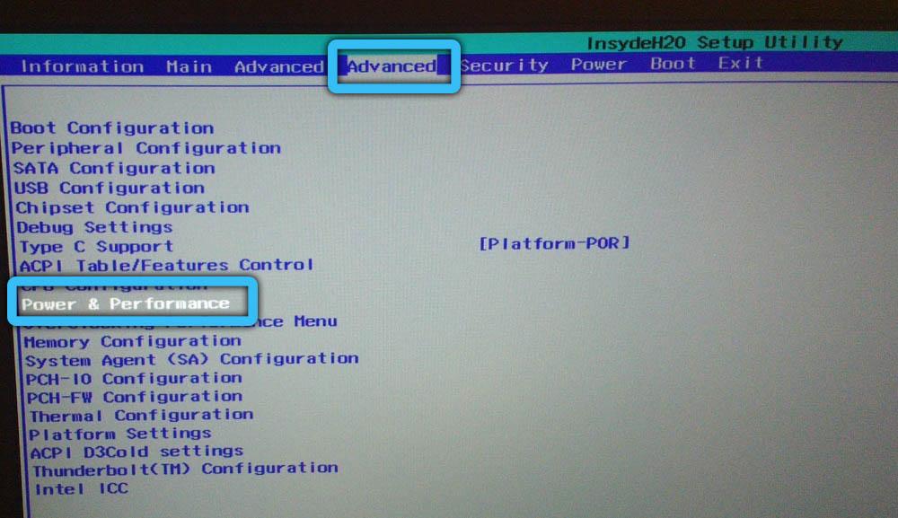 Power Performance в BIOS