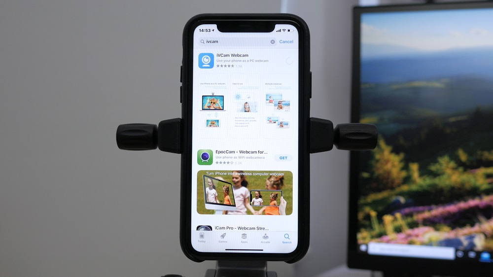 Приложение iVCam для iOS