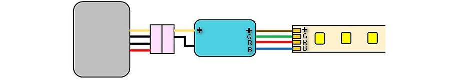 Подключение RGB-ленты через диммер
