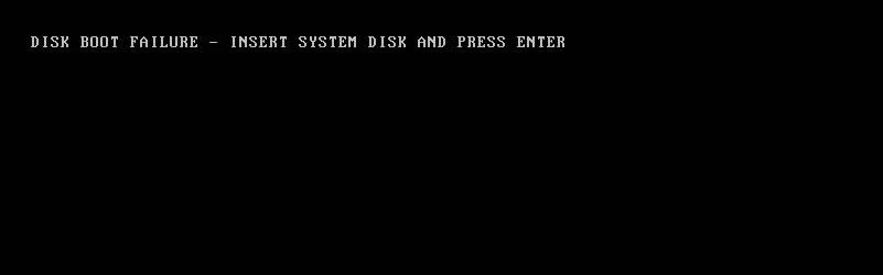Diskbootfailure