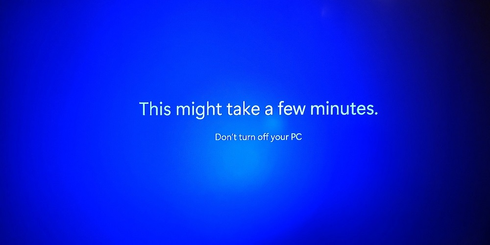 Конец установки Windows 11