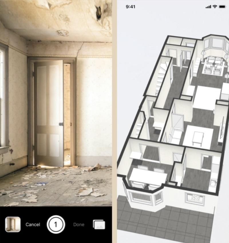 Проект дома в iPhone