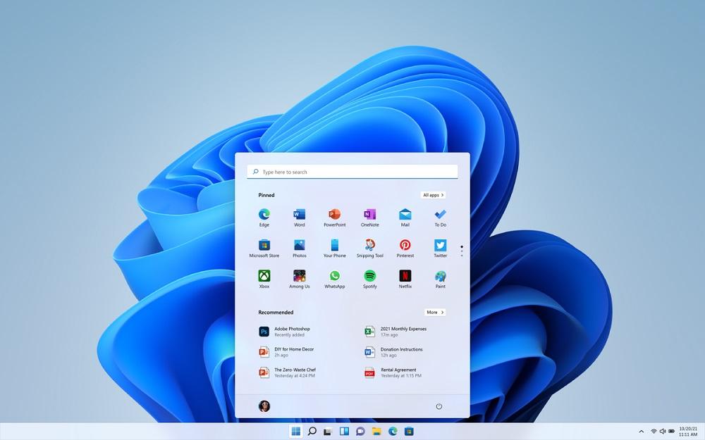 Рабочий стол на Windows 11