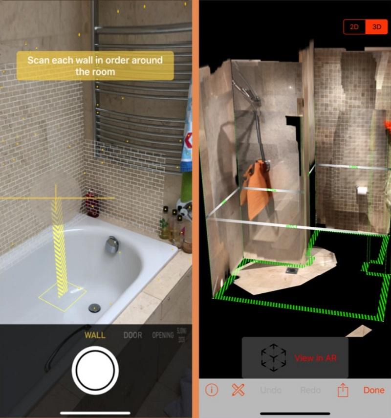 RoomScan LiDAR в iPhone