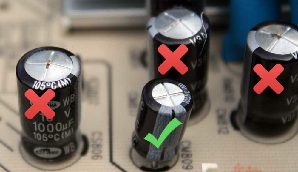 Вздутые конденсаторы на МП