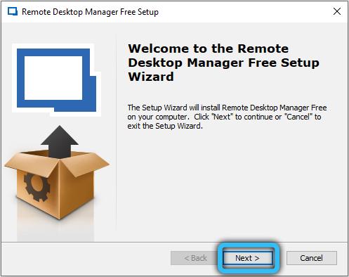 Начало установки RemoteDesktopManager