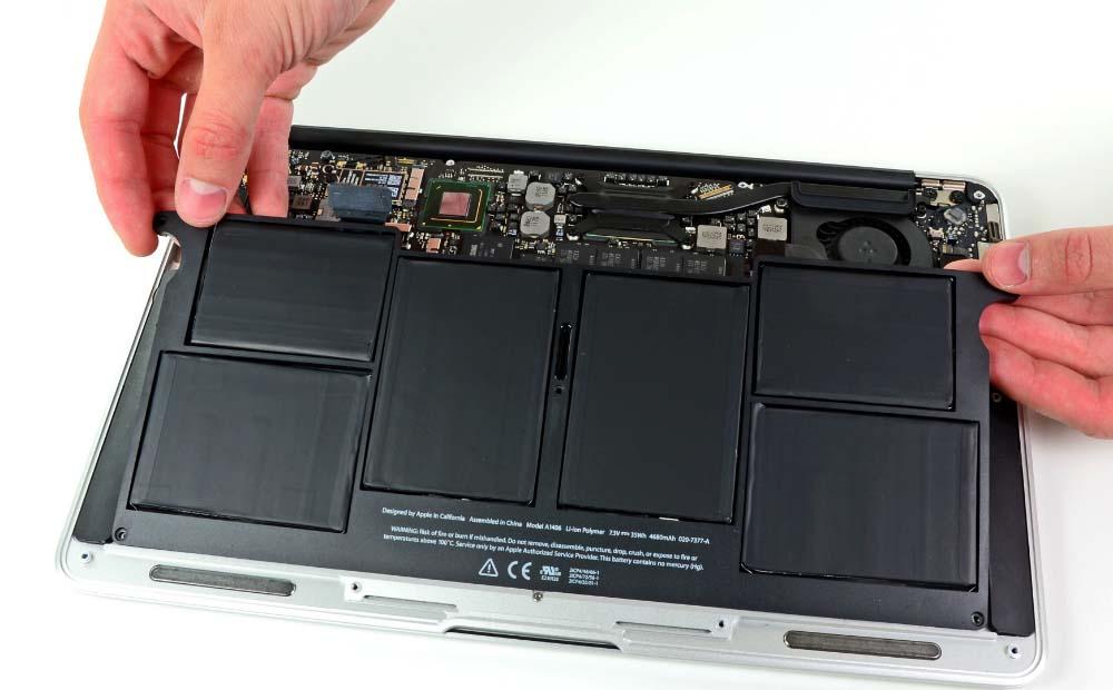 Несъёмный аккумулятор в ноутбуке