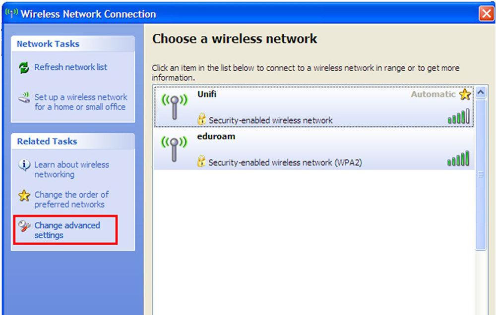 Повторный выбор сети Wi-Fi