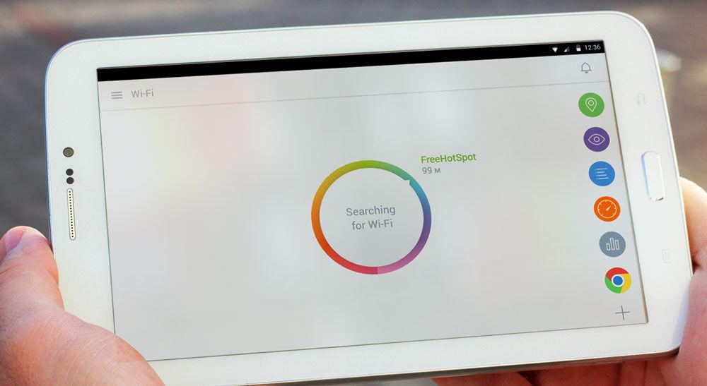 Безуспешный поиск Wi-Fi на устройстве