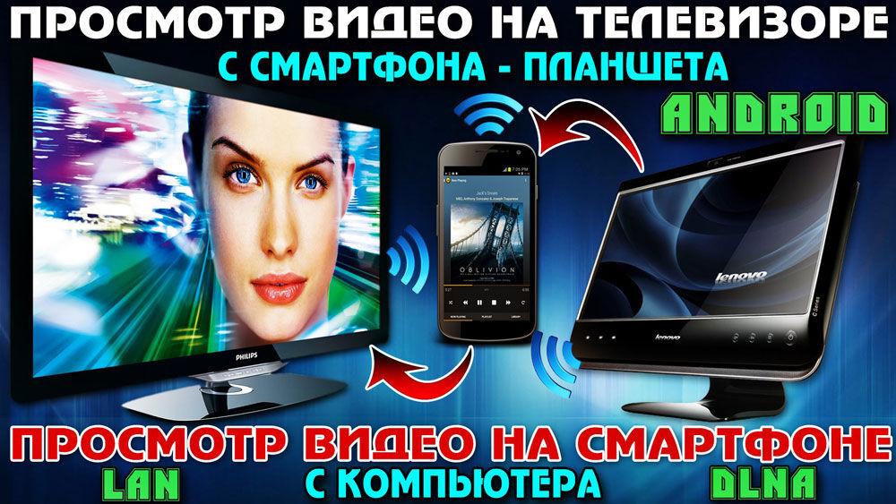Подключение телефона и планшета к телевизору