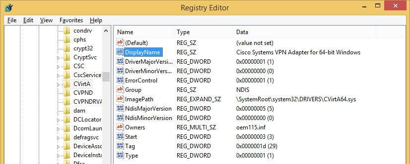 Проверка информации в реестре Windows
